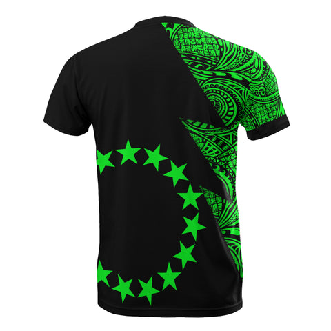 Cook Islands T-Shirt - Polynesian Pattern Green Flash Style - BN09