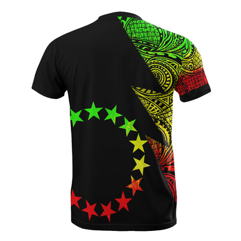 Image of Cook Islands T-Shirt - Polynesian Pattern Reggae Flash Style - BN09
