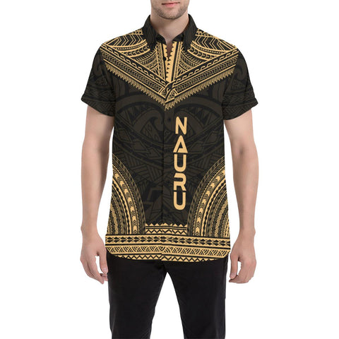 Nauru Polynesian Chief Shirt - Gold Version - Bn10