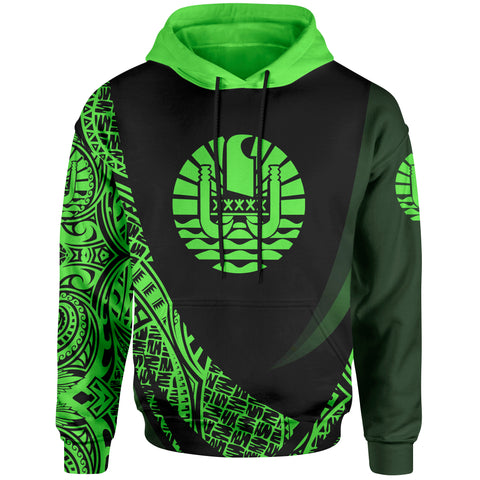 Image of Tahiti Hoodie - Green Polynesian Patterns Sport Style - BN01