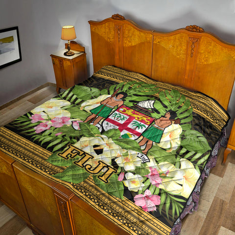 Fiji Premium Quilt - Polynesian Gold Patterns Collection - BN01