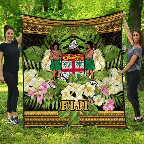 Fiji Premium Quilt - Polynesian Gold Patterns Collection