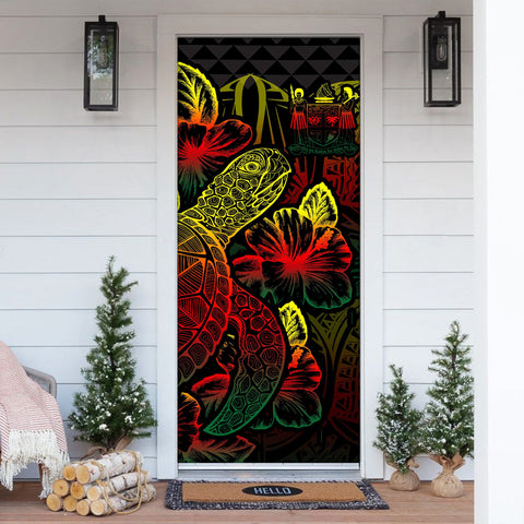 Image of Fiji Door Cover Turtle Hibiscus Reggae - BN39