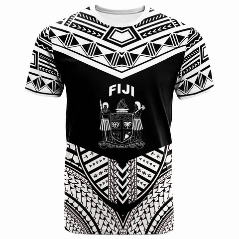 Image of Fiji T-Shirt - Tribal Pattern Cool Style White Color - BN20