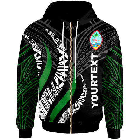 Image of Guam Custom Personalised Zip Hoodie -  Guam Strong Fire Pattern - BN20