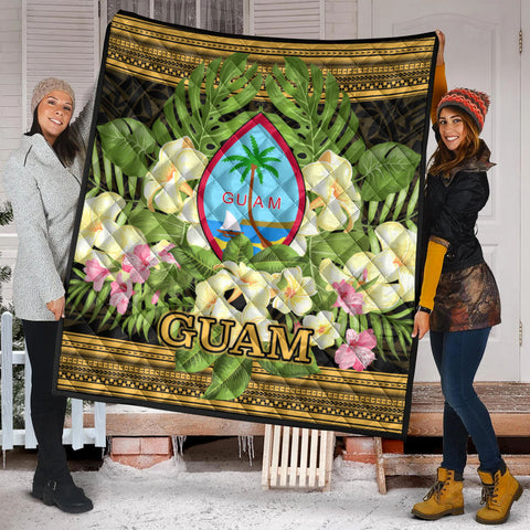 Guam Premium Quilt - Polynesian Gold Patterns Collection - BN01