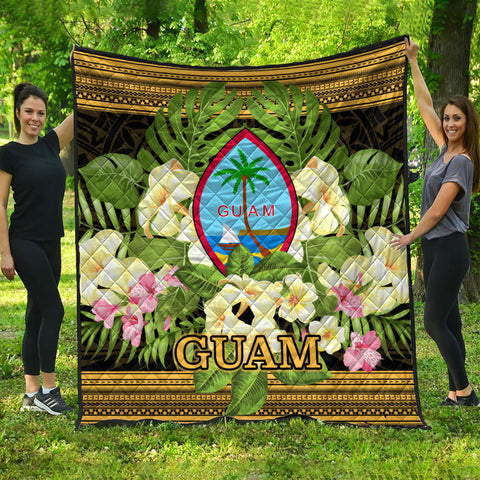 Guam Premium Quilt - Polynesian Gold Patterns Collection