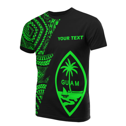 Guam Custom Personalised T-Shirt - Micronesian Pattern Green Style
