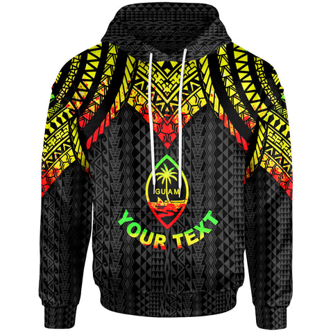 Image of Guam Custom Personalised Hoodie - Polynesian Armor Style Reagge - BN39