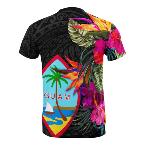 Image of Guam All Over T-Shirt - Hibiscus Polynesian Pattern - BN39