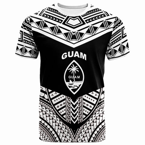 Guam  T-Shirt - Tribal Pattern Cool Style White Color  - BN20