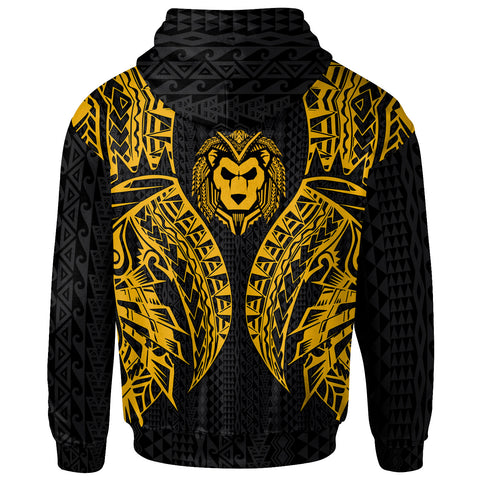 Image of Guam Hoodie - Polynesian Lion Head Gold Style - BN39