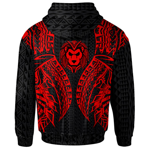 Guam Hoodie - Polynesian Lion Head Red Style - BN39