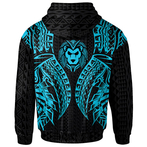 Image of Guam Hoodie - Polynesian Lion Head Neon Style - BN39