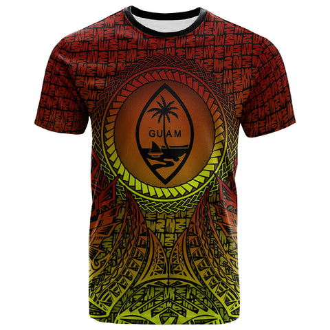Guam T-Shirt - Polynesian Circle Pattern