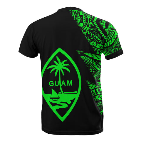 Image of Guam Custom Personalised T-Shirt - Micronesian Pattern Green Style - BN09