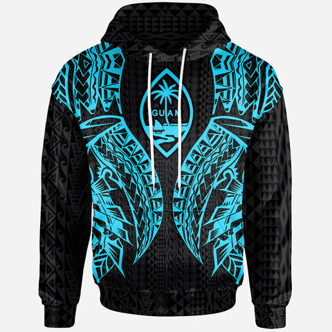 Image of Guam Hoodie - Polynesian Lion Head Neon Style