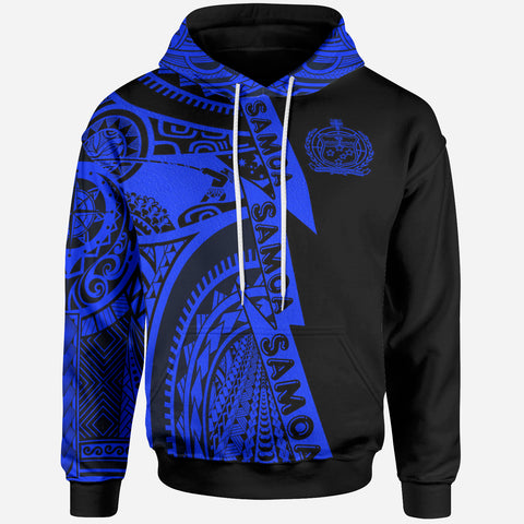 Samoa All Over Hoodie - Samoa Coat Of Arms Blue New - BN17