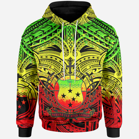 Samoa All Over Hoodie - Samoa Coat Of Arms (Reggae) - BN17