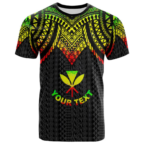 Hawaii Custom Personalised T-Shirt - Polynesian Armor Style Reggae - BN39