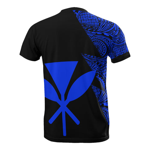 Image of Hawaii Custom Personalised T-Shirt - Polynesian Pattern Blue Style - BN09