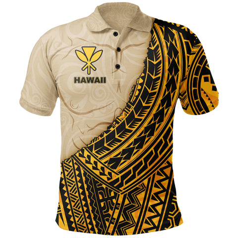Hawaii Polo T-shirt - Polynesian Wild Style