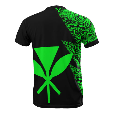 Hawaii Custom Personalised T-Shirt - Polynesian Pattern Green Style - BN09