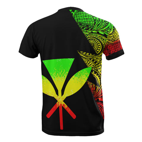Image of Hawaii Custom Personalised T-Shirt - Polynesian Pattern Reggae Style - BN09