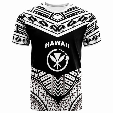 Hawaii  T-Shirt -  Tribal Pattern Cool Style White Color - BN20