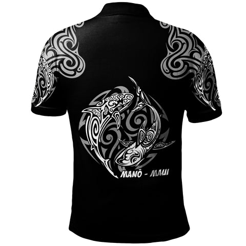 Hawaii Polo Shirt -  Hawaiian Shark Tatoo - BN20