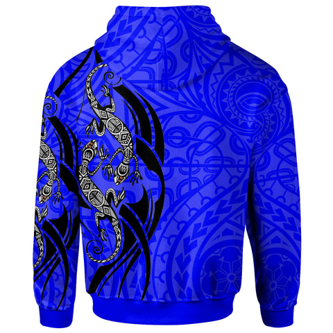 Polynesian Zip-Up Hoodie - Polynesian Lizard Tattoo - BN20
