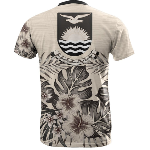 Kiribati T-Shirt The Beige Hibiscus Back