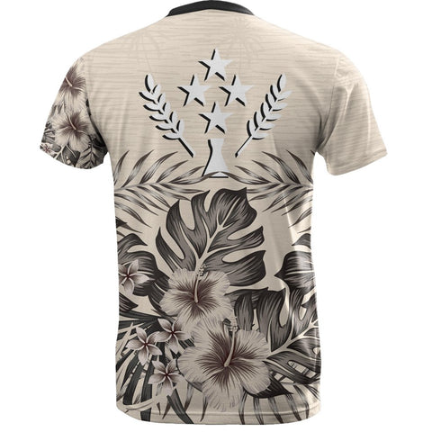 Kosrae T-Shirt The Beige Hibiscus Back