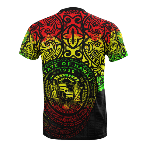 Polynesian Hawaii T-shirt - Pride of Hawaii (Reggae) -BN1518