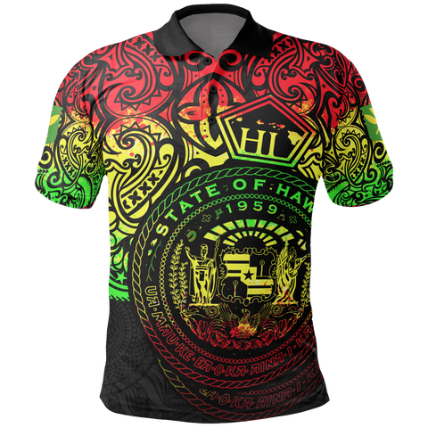 Hawaii Polo Shirt - Pride of Hawaii (Reggae)
