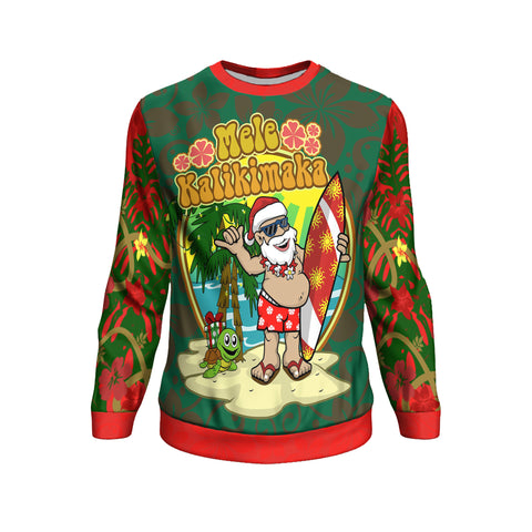 Image of Polynesian Hawaii Sweatshirt - Santa Claus