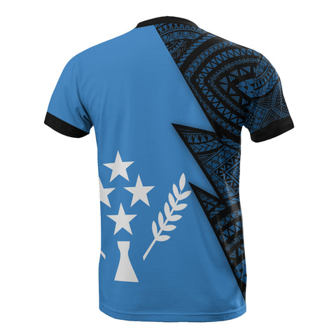 Kosrae Pattern All Over T-Shirt - Kosrae Flag Polynesian Tattoo - BN12