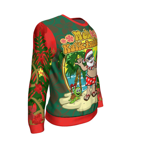 Image of Polynesian Hawaii Sweatshirt - Santa Claus - BN12