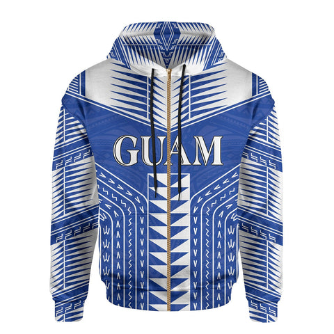 Guam Polynesia All Over Zip Hoodie