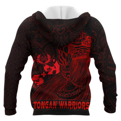 Tonga Polynesian All Over Zip-Up Hoodie - Tongan Warriors - BN12