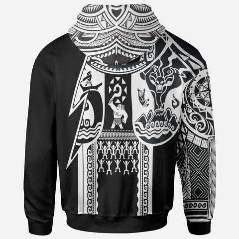 Image of Samoa All Over Hoodie - Samoa Coat Of Arms White New - BN17