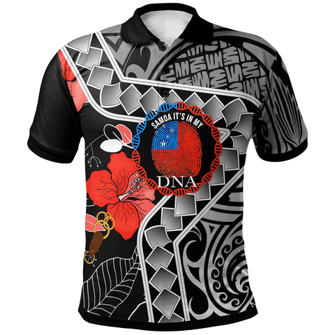 Image of Samoa Polo Shirt - It's In My DNA Hisbicus - BN20