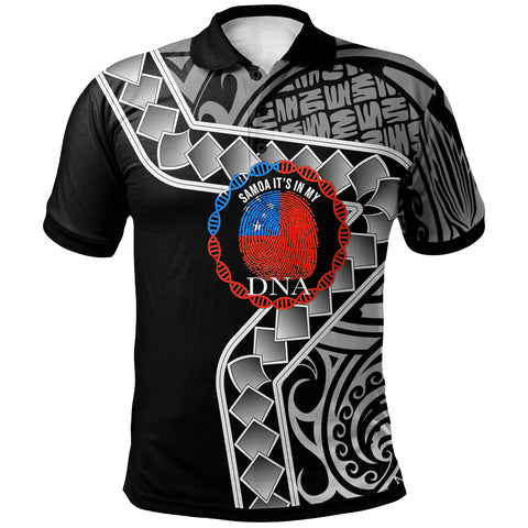 Samoa Polo Shirt - It's In My DNA Black - BN20