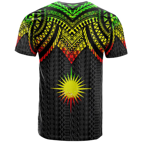 Marshall Islands Custom Personalised T-Shirt - Polynesian Armor Style Reagge - BN39