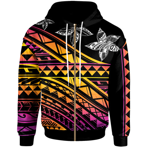 Image of Polynesian Custom Personalised Zip-Up Hoodie - Special Polynesian Ornaments - BN20