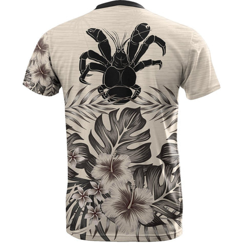 Niue T-Shirt The Beige Hibiscus Back