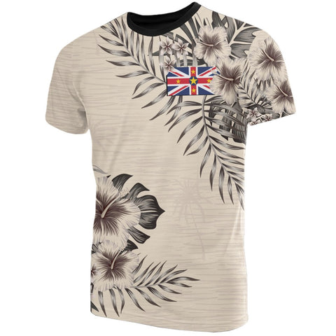 Niue T-Shirt The Beige Hibiscus Front