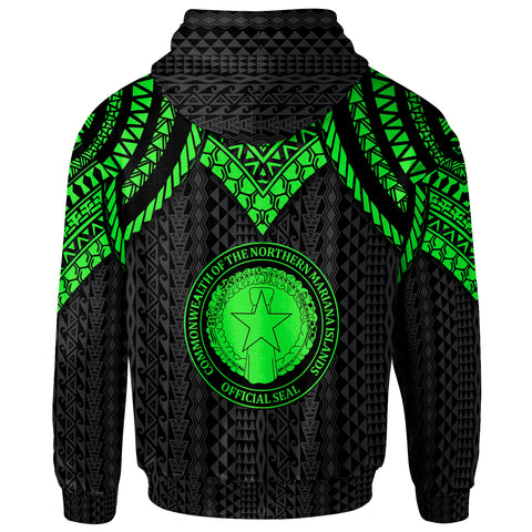 Northern Mariana Islands Hoodie - Polynesian Armor Style Green - BN39