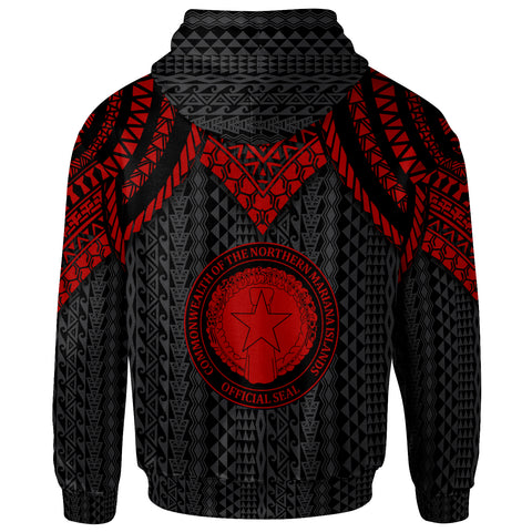 Northern Mariana Islands Hoodie - Polynesian Armor Style Red - BN39