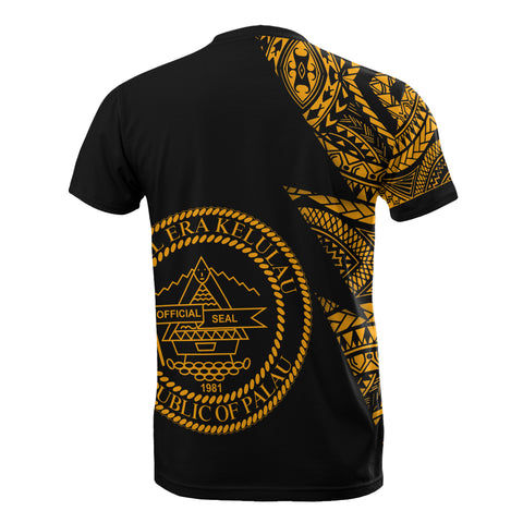 Image of Palau Custom Personalised T-Shirt - Micronesian Pattern Gold Style - BN09